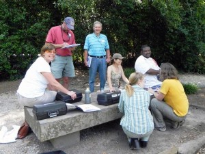 Hana, with Bill Peters, conducting an AWW Water Chemistry workshop at the Birmingham Botanical Gardens
