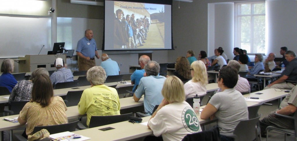 Dr. Lemme, ACES Director, commends AWW volunteer trainers and monitors on their efforts