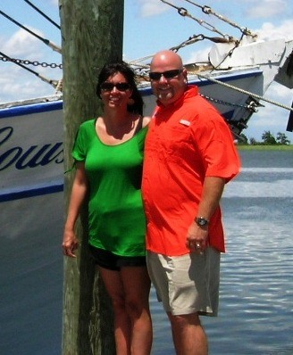 Mike with his wife Amy enjoying Alabama's beautiful coastal waters.