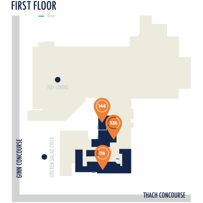 Foy Hall 136 / 144 locations