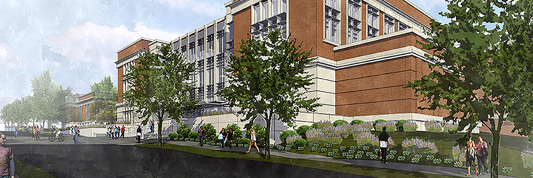 Artist rendering of the new Mell Classroom Building @ RBD Library
