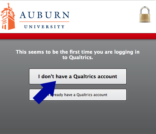 choose the I don't have a Qualtrics account option in order to review and accept the TOS