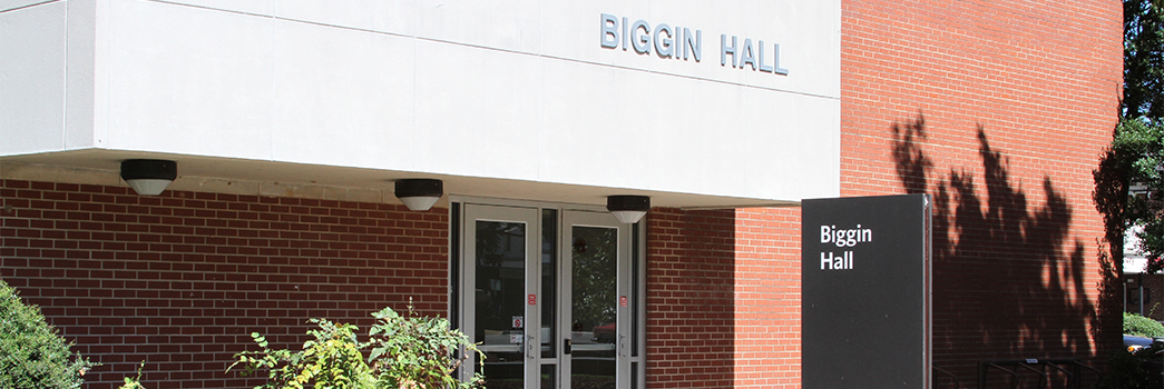 Testing Services is located in Biggin Hall, near Toomer's corner.