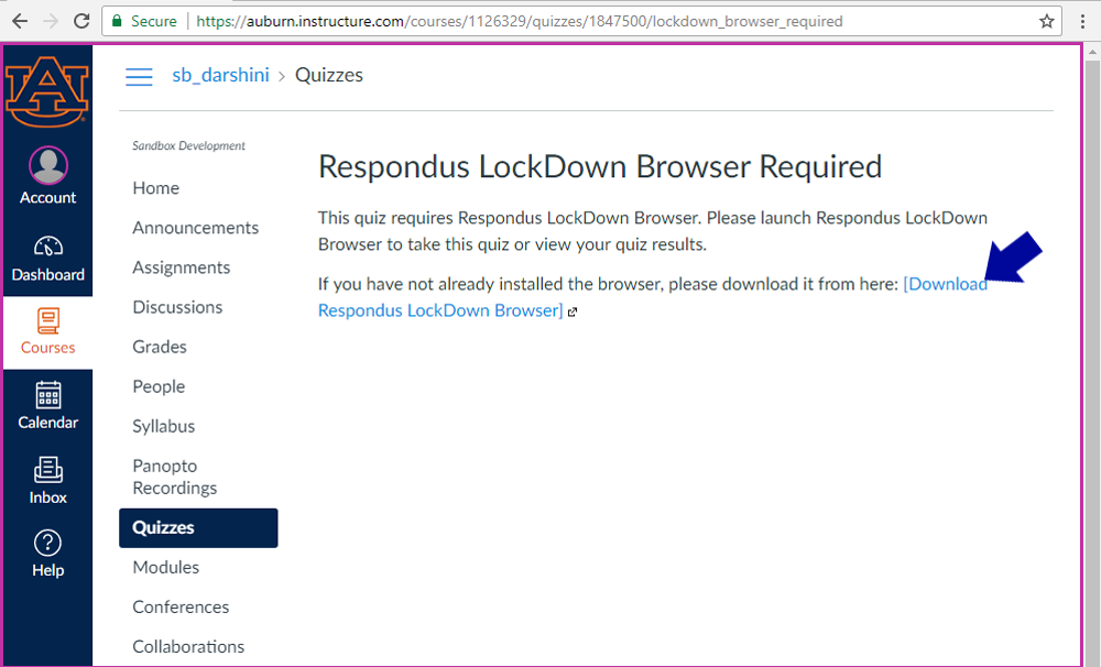 you will be prompted to download the lockdown browswer