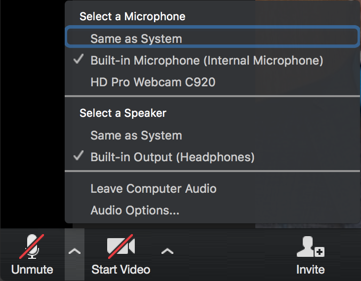 mute your microphone when joining the call