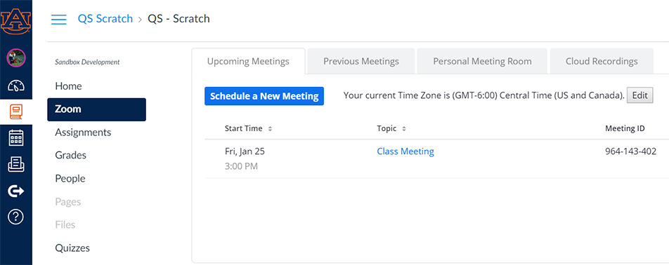 screenshot, setting a name and time for a meeting
