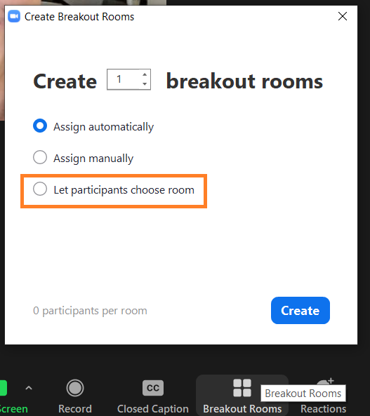 Step 2 - Assigning Breakout Rooms