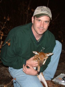 Dr. Ditchkoff with Fawn