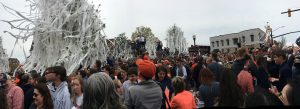 Rolling Toomer's corner after Auburn University Men's Basketball makes it to the Final Four in 2019