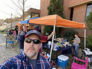 people tailgating for football at auburn university