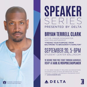 Bryan Terrell Clark will kick off the Delta Speaker Series on Sept 20 from 5-6pm in Student Center Ballroom