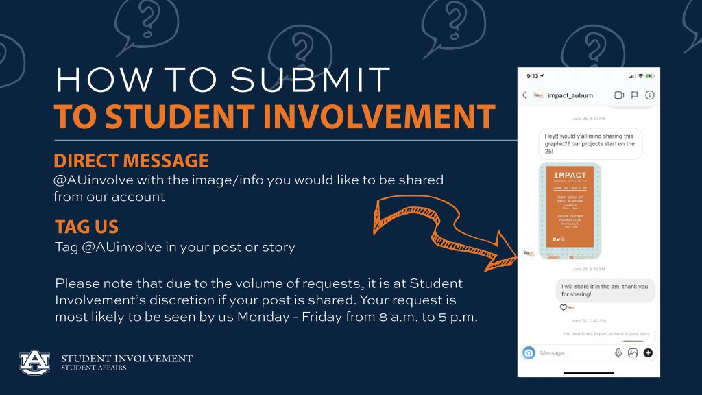 How to Submit to Student Involvement