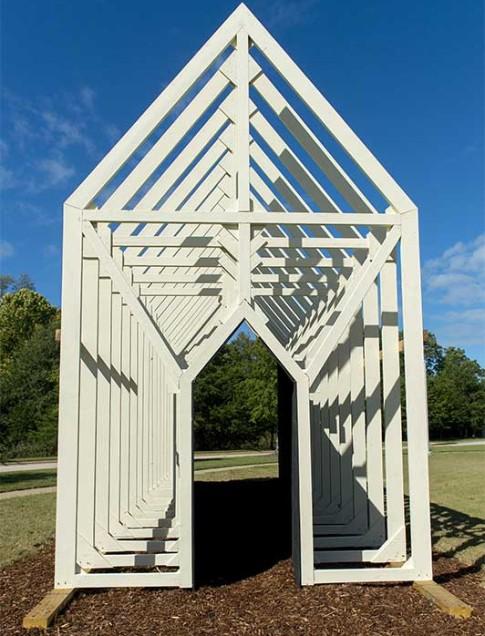 Mike Wsol (Georgia, b. 1973) Bridge , 2012 Wood