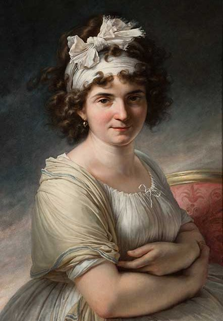 Antoine-Jean Gros (French, 1771–1835)  Portrait of Celeste Coltellini, Madame Meuricoffre, about 1790s  Oil on canvas  26 3/4 x 19 1/2 in. (67.9 x 49.5 cm.)  36 9/16 x 28 3/8 x 3 1/8 in. (92.9 x 72.1 x 7.9 cm.) (frame)  Collection of the Speed Art Museum, Gift of Mrs. Berry V. Stoll 1983.10