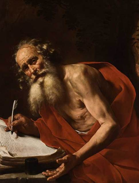 Hendrick van Somer (Flemish, born about 1607, active Naples, 1624–1652)  Saint Jerome, 1651  Oil on canvas  39 3/4 x 49 1/2 in. (101 x 125.7 cm.)  52 1/2 x 62 1/2 x 4 1/16 in. (133.4 x 158.8 x 10.3 cm.) (frame)  Collection of the Speed Art Museum, Gift of the Charter Collectors with funds from the Bequest of Jane Morton Norton 1991.21