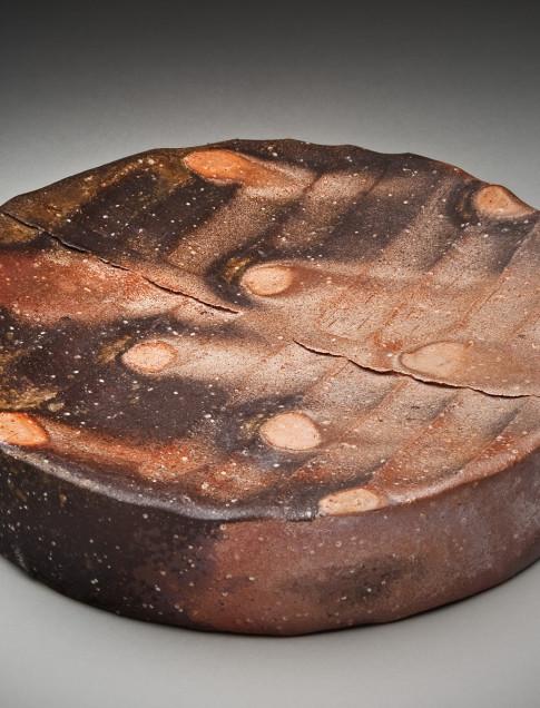 "Nancy Green  (Watkinsville, Georgia, 1956) Wood Fired Hollow Tray, 2013 Shigaraki Clay 2 ¼ H x 11 W"" x 11 D inches"
