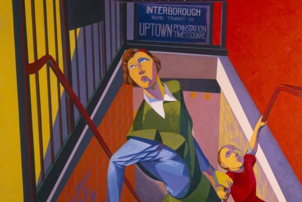 Louis O. Guglielmi (American) Subway Exit, 1946 Oil on canvas Advancing American Art Collection 1948.1.17