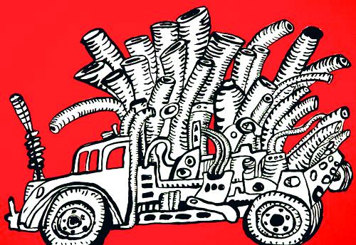 John Himmelfarb, Pipe Up, 2011, Edition: 24, 2-color screenprint