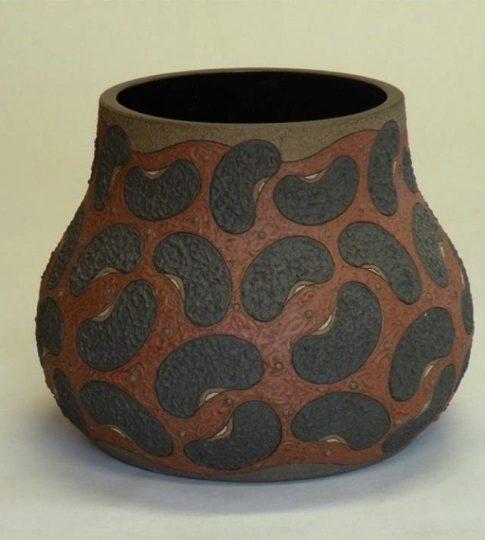 Guadalupe Robinson  (Huntsville, Alabama, b. 1954)  Bean Pot V, 2008 Stoneware clay  10H x 11.5W x 11.5D inches