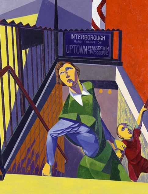O. Louis Guglielmi Subway Exit, 1946 Oil on canvas Jule Collins Smith Museum of Fine Art, Auburn University;  Advancing American Art Collection,  1948.1.17