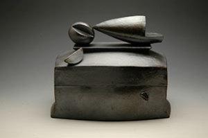 "Memory Box, 2010 Black stoneware 15""x9""x7"""