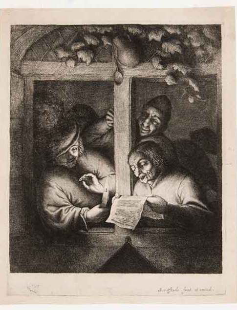 Adriaen van Ostade (Dutch, 1610–1685) The Singers, ca. 1660–70 Etching Fourth state of seven Courtesy David Tunick, Inc.