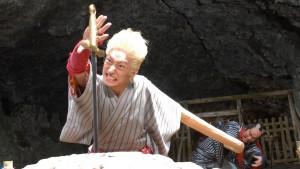 A scene from Yaji and Kita: The Midnight Pilgrims