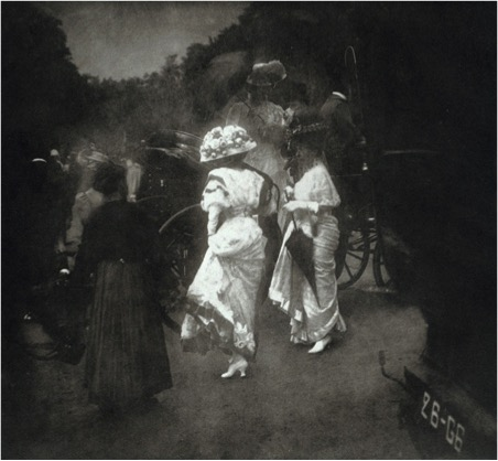 Edward Steichen (American, b. Luxembourg, 1879–1973) Grand Prix at Longchamp: After the Races, 1907 Printed 1981 Photogravure Courtesy of Gottheiner, Ltd.