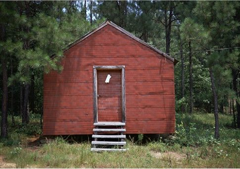 William Christenberry (American, b. 1936) Red Building in Forest, Hale County, Alabama, 1994 Edition: 25 Archival pigment print Signed in ink on verso Courtesy of Jackson Fine Art