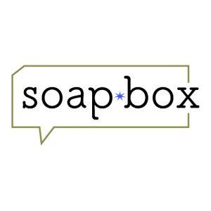 "Juried Exhibition ""soapbox"" Logo"