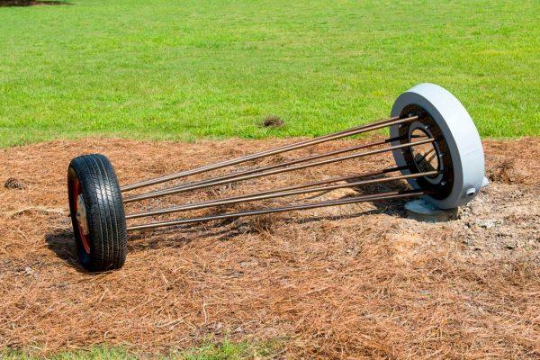 A tire sculpture