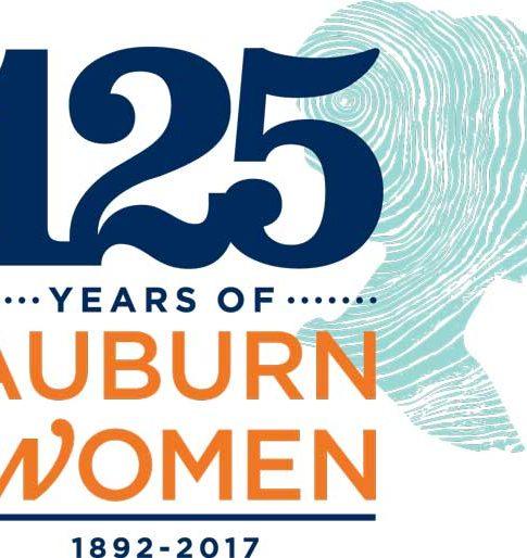 Logo celebrating 1892-2017 and Auburn women