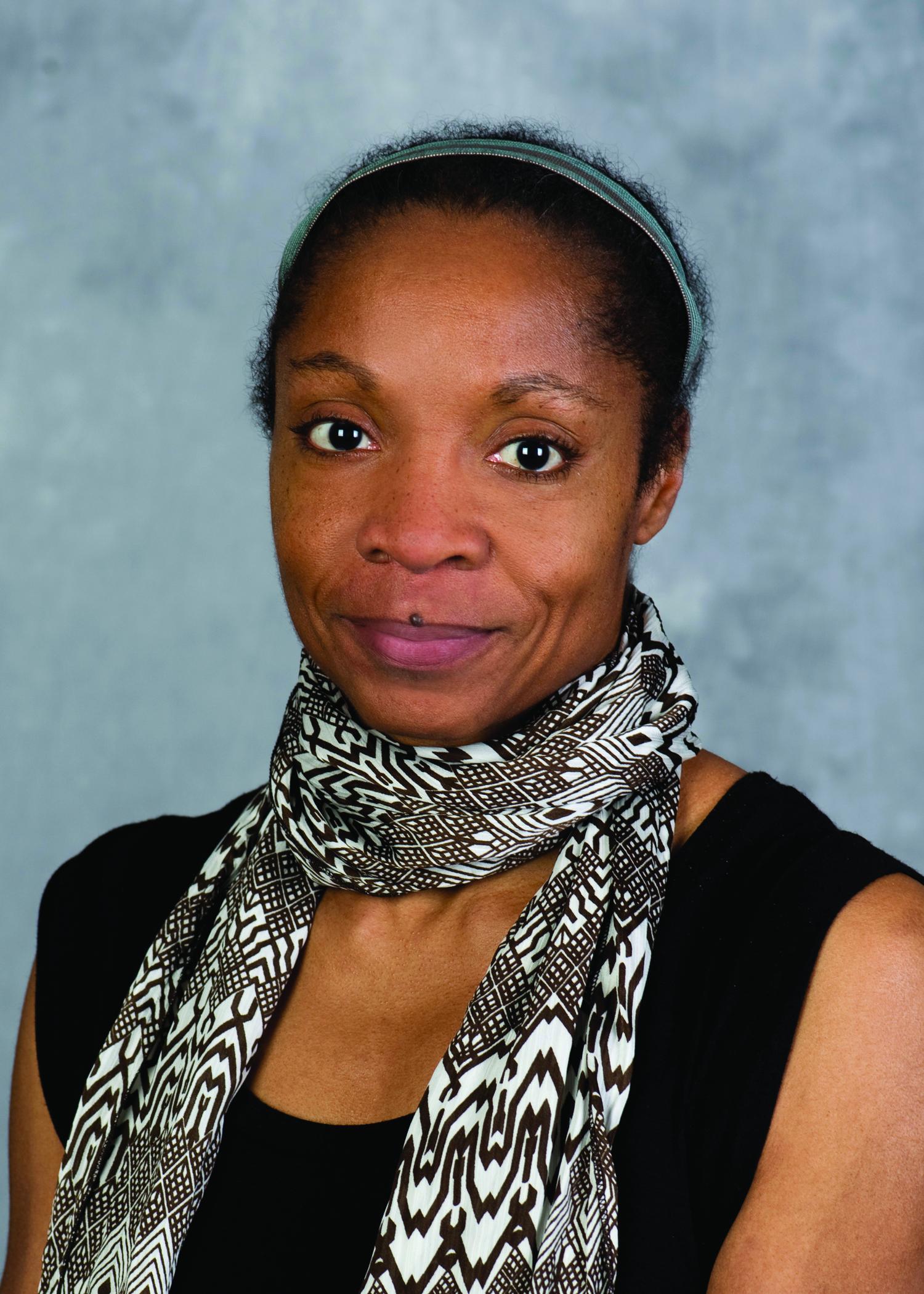 A head and shoulder photograph of Allison Joseph, poet