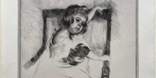 DETAIL: Mary Cassatt (American, 1844–1926) Kneeling in an Arm Chair