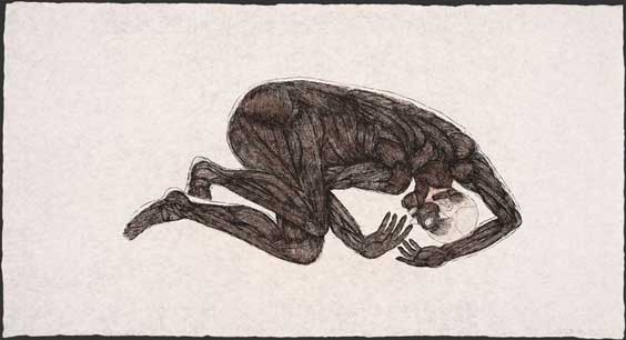 Kiki Smith (American, b. Germany, 1954) Sueño, 1992 Edition: 33 Etching and aquatint in 2 colors 41 3/4 x 77 1/2 inches Courtesy of Ryan/Lee Gallery