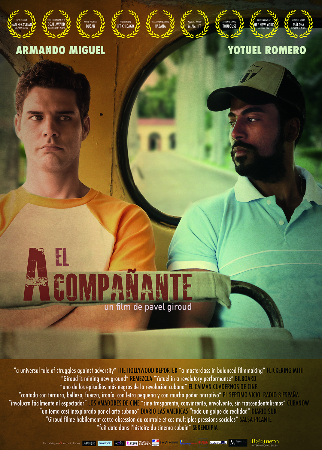 Movie poster for the film, El acompañante