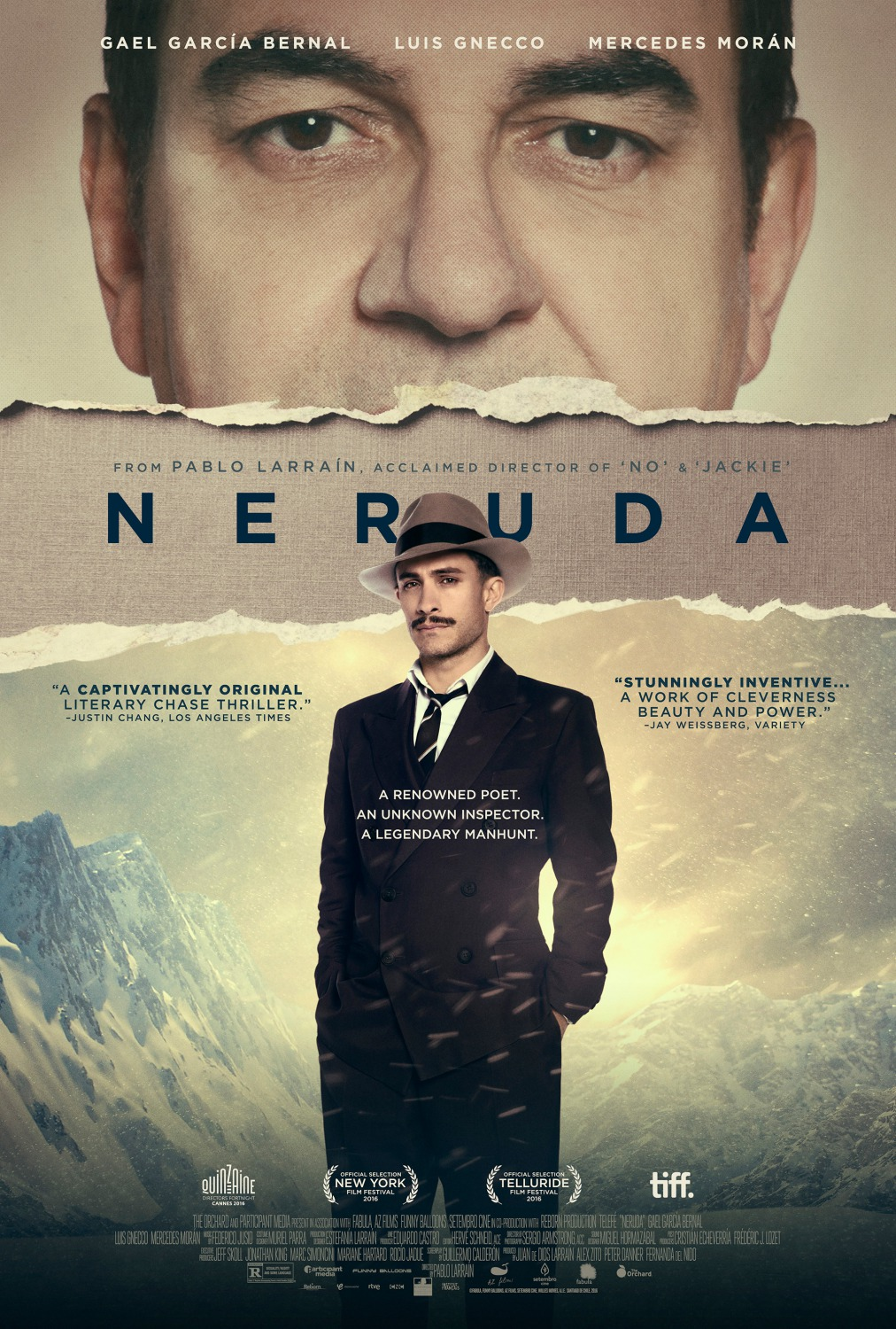 Movie poster for the film, Neruda