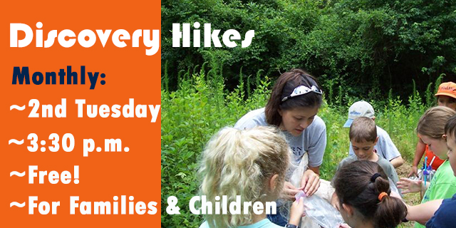 Discovery Hikes, Families & Children Exploring Nature