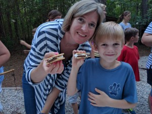 S'more fun with mom at Kreher Preserve & Nature Center