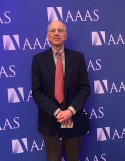 Dr. Stewart Schneller at 2019 AAAS Ceremony