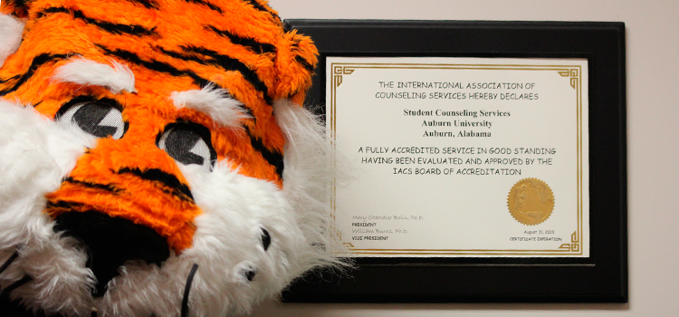 Student Counseling Services receives IACS Accreditation