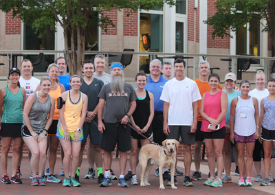 2016 Camp War Eagle run with Dr. Hankes, alumni, faculty, staff, students and parents