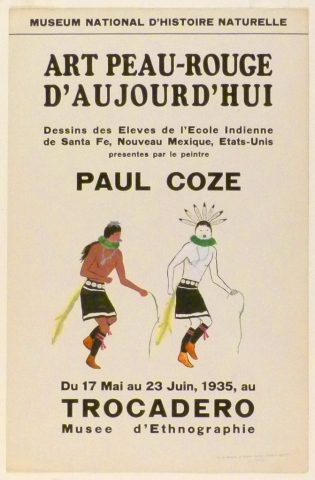 Art Exhibition Poster with painting of two dancing figures.